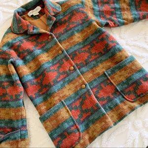 RARE VINTAGE FIND Alfred Boho Wool Aztec Jacket